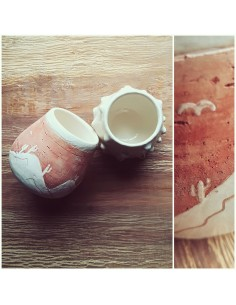 """Ceramic Gourd """"desert"""""""